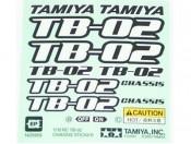 Naklejki 1:10 podwozia TB-02 Tamiya 1425959