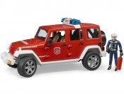 Bruder 02528 Jeep Wrangler Rubicon straż pożarna z figurką i modułem