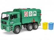 Bruder 02753 Śmieciarka MAN TGA zielona z tylnym załadunkiem