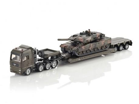 Transporter z czołgiem 1/87