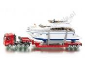 Ciągnik siodłowy MAN TG-A z naczepą + jacht 1/87