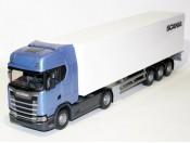 Emek 86004 Scania S410 niebieska z naczepą