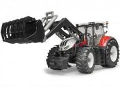 Bruder 03181 Traktor Steyr 6300 Terrus CVT z ładowaczem