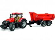 Bruder 03199 Traktor Case IH Optum 300 CVX z przyczepą Krampe
