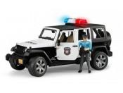 Bruder 02526 Jeep Wrangler Unlimited Rubicon policyjny z figurką policjanta i sygnalizacją
