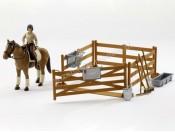 Bruder 62500 Zagroda z figurką konia i jeźdźca