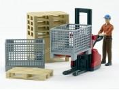 Bruder 62200 Akcesoria logistyczne z figurką