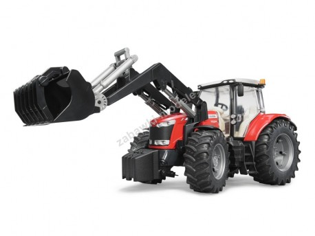 Bruder 03047 Traktor Massey Ferguson 7600 z ładowarka