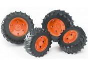 Bruder 03312 Koła bliźniacze 03000 - pomarańczowe