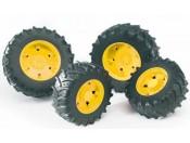 Bruder 03314 Koła bliźniacze 03000 - żółte