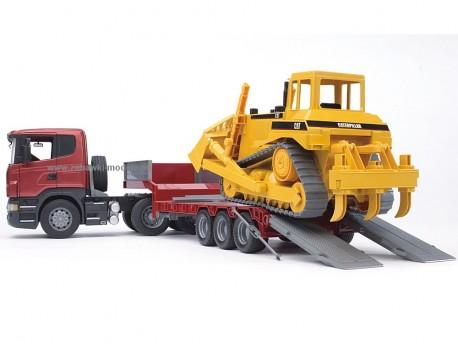 Bruder 03555 Scania R z naczepą i buldożerem