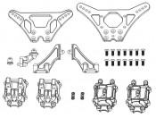 X10EB Mosty amortyzatorów i obudowa przekładni Carson 405346