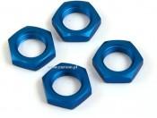 Nakrętki do kół 1:8 alu 17 mm blue (4) Carson 908005