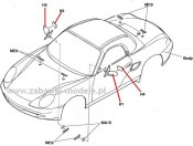 Porsche Boxster 58197 - lusterka Tamiya 0005636